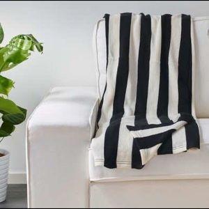 IKEA Eivor Throw Blanket Striped Black White